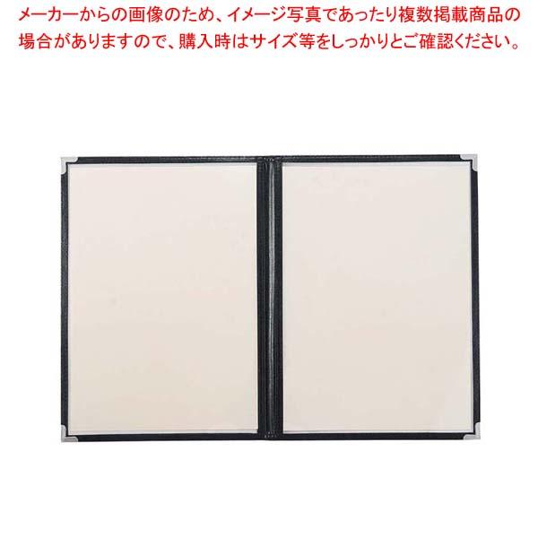 【まとめ買い10個セット品】 クイックメニューブック A4サイズ QM-4 6ページ ブラック 36019【 メニュー・卓上サイン 】