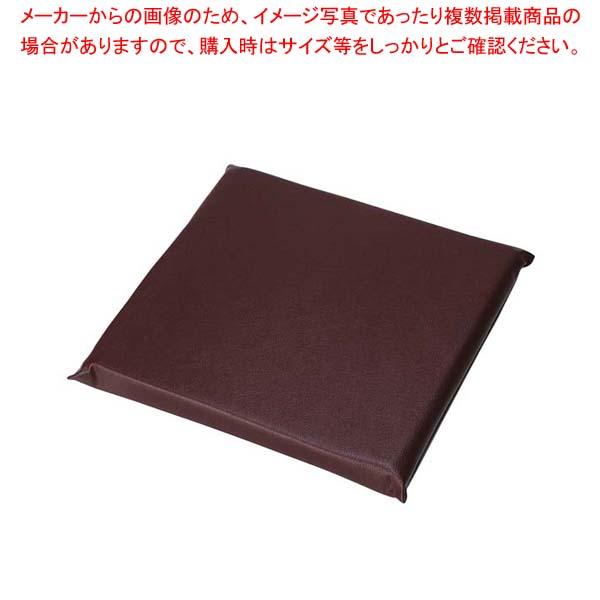 【まとめ買い10個セット品】 レザー 座布団 無地 AAU0003 小 茶【 メーカー直送/代金引換決済不可 】