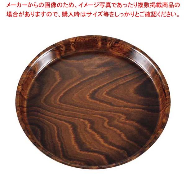 【まとめ買い10個セット品】 キャンブロ スムースウッドトレイ 丸 PH558510