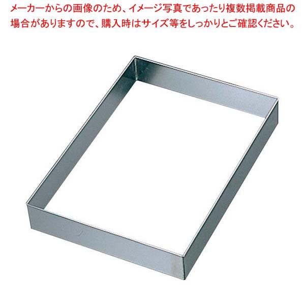 【まとめ買い10個セット品】 EBM 18-8 角 セルクル 6枚取天板用1/2 50H【 製菓・ベーカリー用品 】