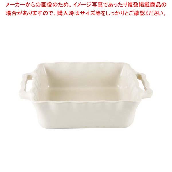 【まとめ買い10個セット品】 アポーリア スクウェアベイキングディッシュ 25cm クリーム 110025006【 オーブンウェア 】