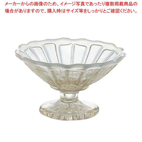 【まとめ買い10個セット品】 サンデーカップ 雪の花 古代色 2237-OA ガラス製【 ブレンダー・ジューサー・かき氷 】
