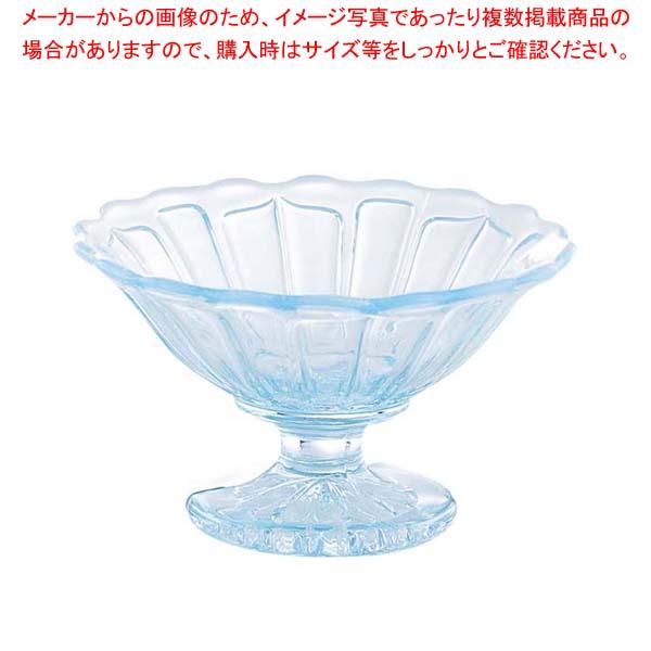 【まとめ買い10個セット品】 サンデーカップ 雪の花 2237 ガラス製【 ブレンダー・ジューサー・かき氷 】