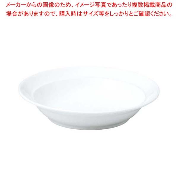 【まとめ買い10個セット品】 おぎそ 軽量高強度磁器 ハーフリムスープ皿 19cm 1192-0000