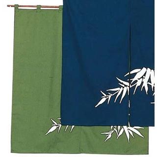 【まとめ買い10個セット品】 若竹 のれん N110-04 緑 850×900