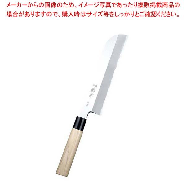 【まとめ買い10個セット品】 敏幸 改良霞 特製 鎌型薄刃 21cm