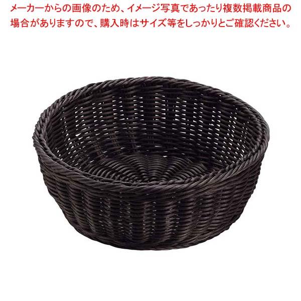 【まとめ買い10個セット品】 抗菌樹脂 丸型バスケット DS106 30型 ブラック【 ディスプレイ用品 】