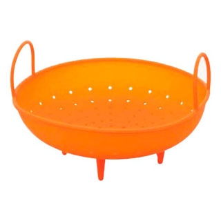 【まとめ買い10個セット品】 シリコン 蒸しバスケット SLBM1 オレンジ 13724