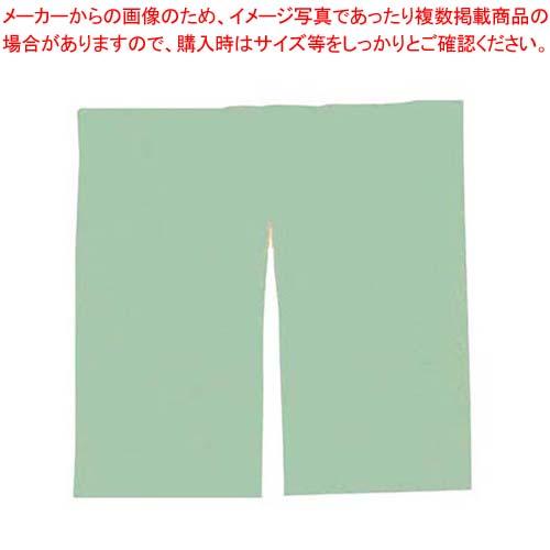【まとめ買い10個セット品】 半間用 無地 のれん グリーン 中 900×900