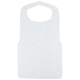 【まとめ買い10個セット品】 使い捨て クリーンエプロン 八ッ折(50枚入)白