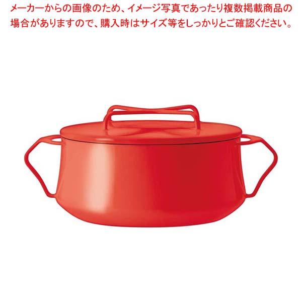 【まとめ買い10個セット品】 DANSK コベンスタイル 両手鍋2QT チリレッド 【 両手鍋 パスタ鍋シチュー鍋 】
