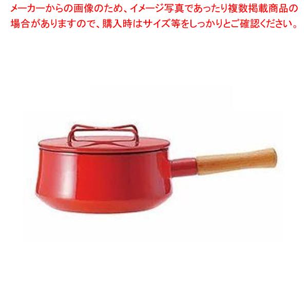 【まとめ買い10個セット品】 DANSK コベンスタイル 片手鍋 18cm チリレッド【 ブランドキッチンコレクション 】