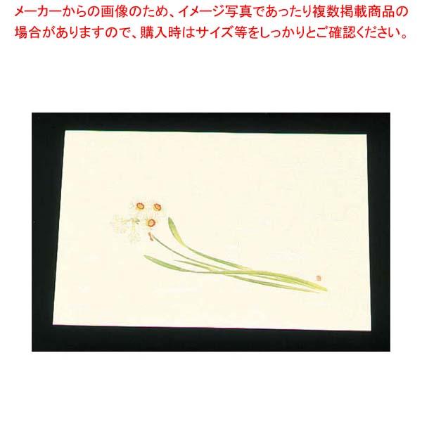 【まとめ買い10個セット品】 尺三 懐石まっと クリーム(100枚入)WSS-17 水仙(12月~1月)【 料理演出用品 】