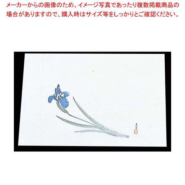 【まとめ買い10個セット品】 四季紙 萬寿(100枚入)M33-112 あやめ【 料理演出用品 】