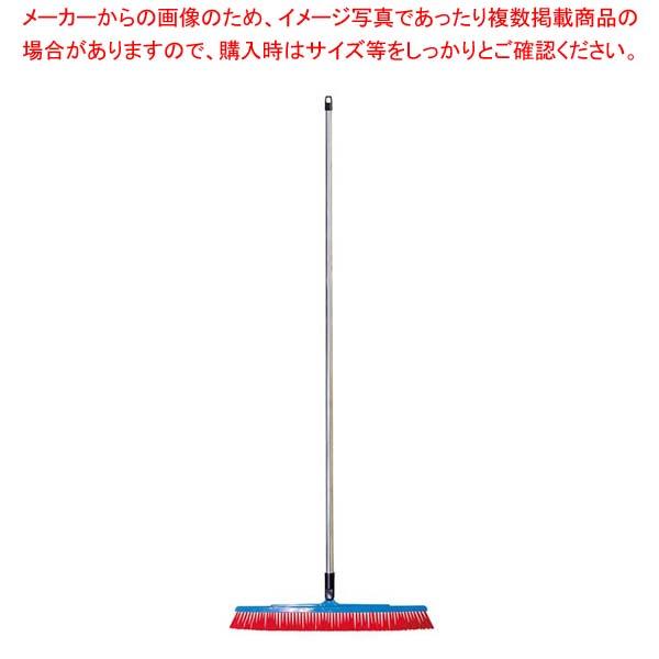 【まとめ買い10個セット品】 バーキュート衛生管理用ほうき 幅広タイプ ハード赤 626141【 清掃・衛生用品 】