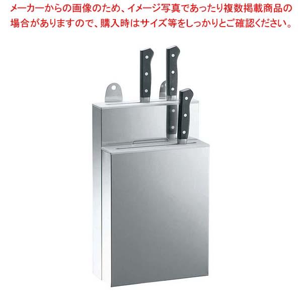 【まとめ買い10個セット品】 18-8 IKD 抗菌 PP板付 庖丁差 釘打式 小 2段【 砥石・庖丁差し 】