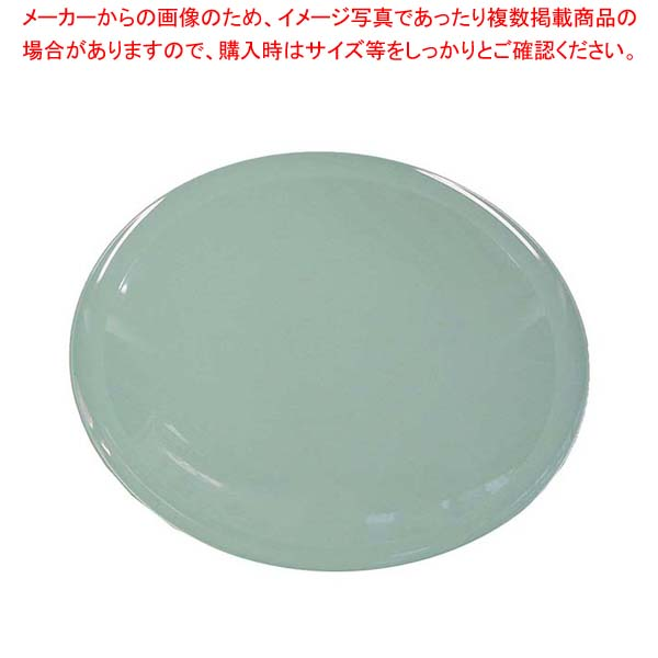 【まとめ買い10個セット品】 プラ容器 高台皿(5枚入)1尺 青磁