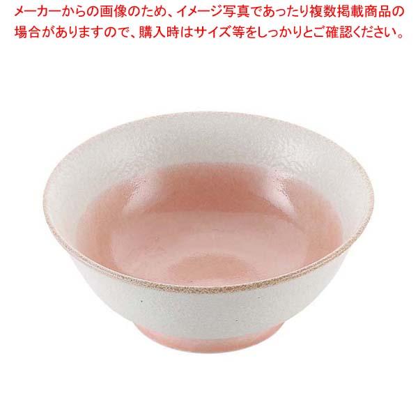 【まとめ買い10個セット品】 磁器 中華食器 釉彩ピンク 高台丼 6.5寸