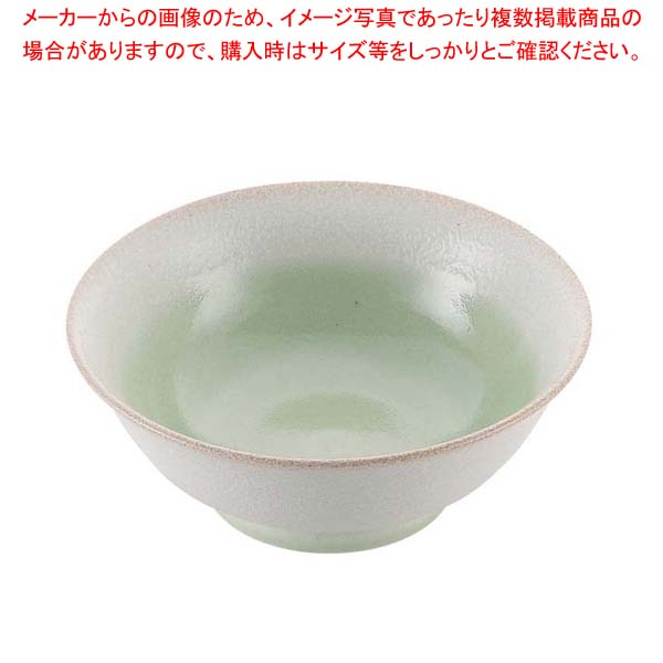 【まとめ買い10個セット品】 磁器 中華食器 釉彩若草 高台丼 6.8寸