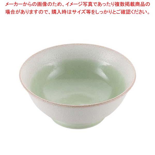 【まとめ買い10個セット品】 磁器 中華食器 釉彩若草 高台丼 6.5寸
