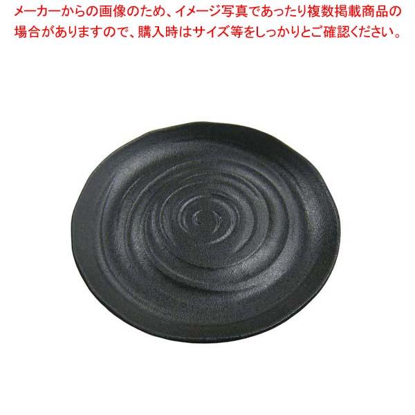 【まとめ買い10個セット品】 天目砂鉄 丸皿 尺