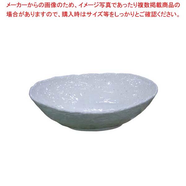 【まとめ買い10個セット品】 モダンホワイト 楕円鉢 大
