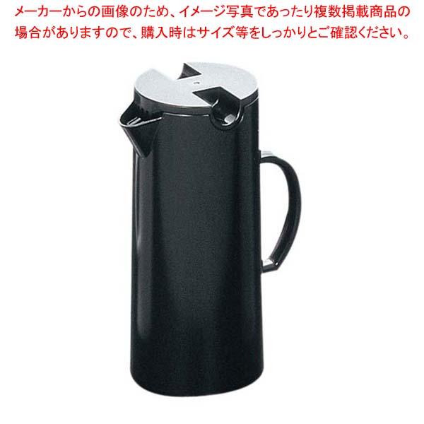【まとめ買い10個セット品】 アクボ ウォーターピッチャー ブラック AC-1BK-BK【 カフェ・サービス用品・トレー 】