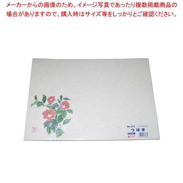 【まとめ買い10個セット品】 銀龍和紙テーブルマット(100枚入)A-12-2「つばき」