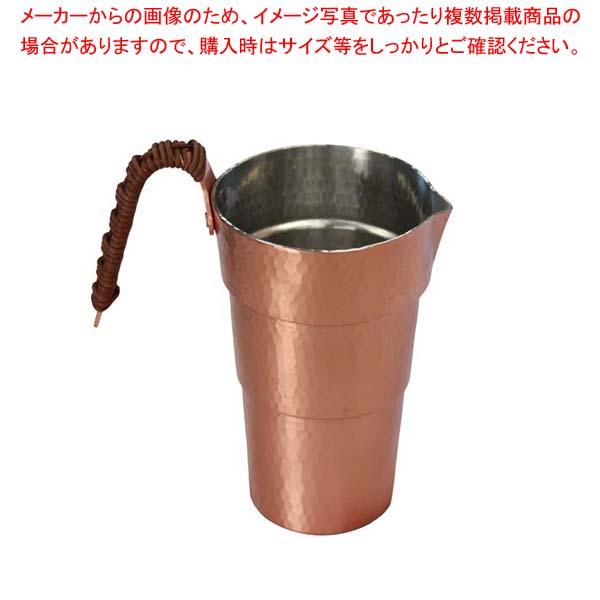 【まとめ買い10個セット品】 純銅 チロリ(酒タンポ)2合 SN-22【 加熱調理器 】