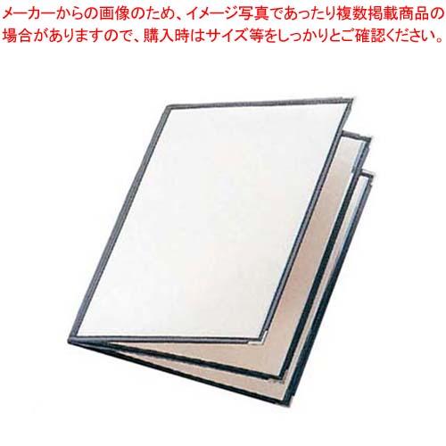 【まとめ買い10個セット品】 えいむ クリアテーピング メニューブック 合皮 LTB-46 黒 【 メニューブック メニュー表 業務用 】