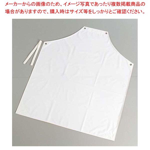 【まとめ買い10個セット品】 シャバルバ カラーエプロン 胸付 650 L ホワイト
