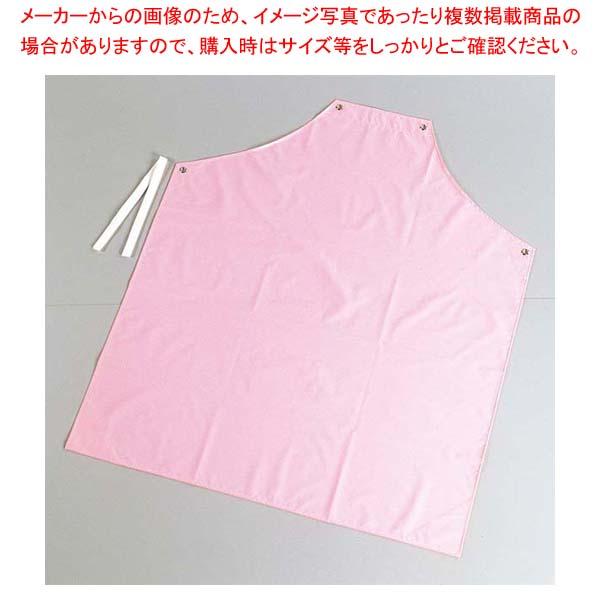 【まとめ買い10個セット品】 シャバルバ カラーエプロン 胸付 650 L ピンク