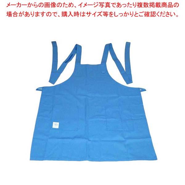 【まとめ買い10個セット品】 エコエプロン CT2415-7 フリー ブルー