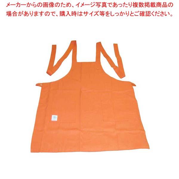 【まとめ買い10個セット品】 エコエプロン CT2415-3 フリー オレンジ