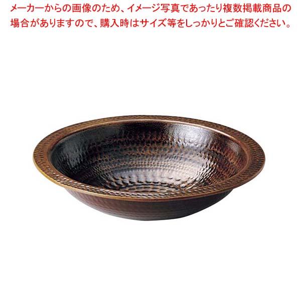 【まとめ買い10個セット品】 アルミ 電磁用うどんすき(あめ釉)24cm【 卓上鍋・焼物用品 】