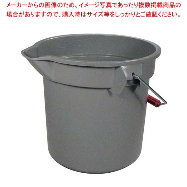 【まとめ買い10個セット品】 ラバーメイド ブルートバケット 2614 グレー 13L【 清掃・衛生用品 】