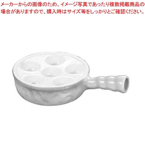 【まとめ買い10個セット品】 バウシャ スネール皿 6穴(ハンドル付)710-6 ホワイト