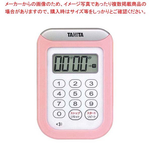 【まとめ買い10個セット品】 タニタ 丸洗いタイマー 100分計 TD-378 ピンク【 タイマー 】