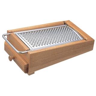 【まとめ買い10個セット品】 木製 チーズグレーター 引出し付