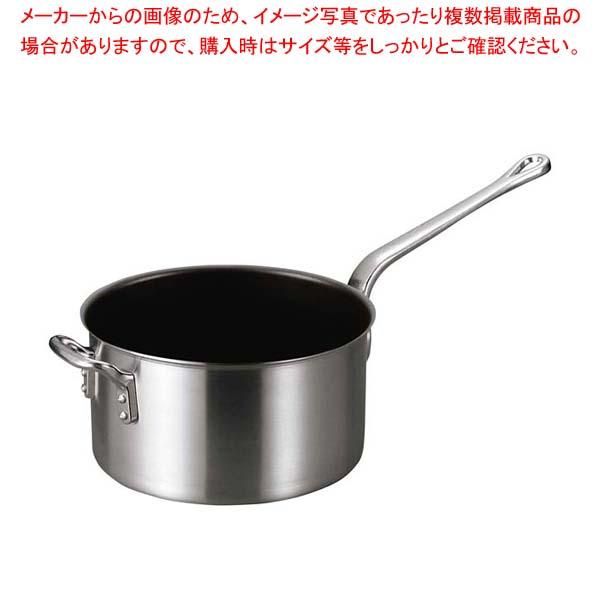 アルミ フッ素バリックス 片手鍋 24cm【 アルミ片手鍋 片手鍋 アルミ 業務用 】