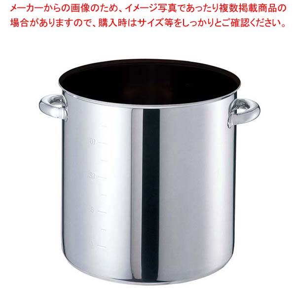 【まとめ買い10個セット品】 EBM モリブデンジIIプラス 寸胴鍋 30cm 蓋無 ノンスティック【 IH・ガス兼用鍋 】