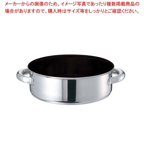 【まとめ買い10個セット品】 EBM モリブデンジIIプラス 外輪鍋 42cm 蓋無 ノンスティック【 IH・ガス兼用鍋 】