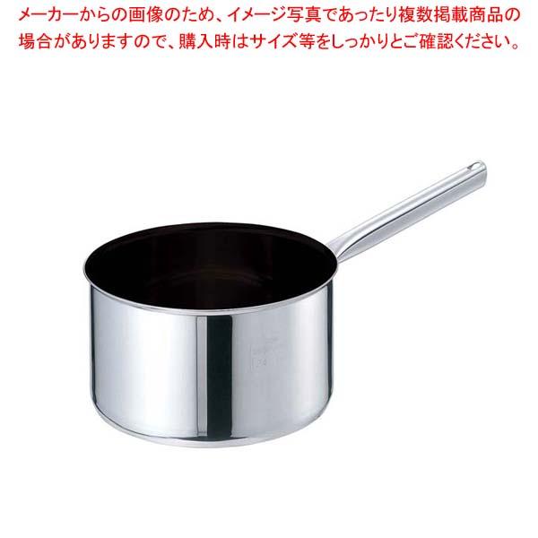 EBM モリブデンジIIプラス 深型片手鍋 24cm 蓋無ノンスティック【 片手鍋 業務用 】