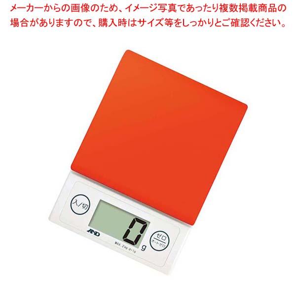 【まとめ買い10個セット品】 A&D ホームスケール 2kg UH-3303-R レッド【 ハカリ 】