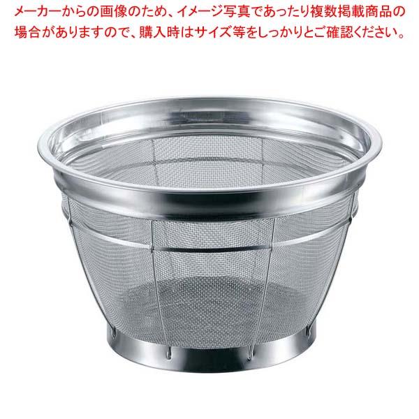 【まとめ買い10個セット品】 BK 18-8 カラーバー付 米揚ザル 荒目 27.5cm 3升 レッド
