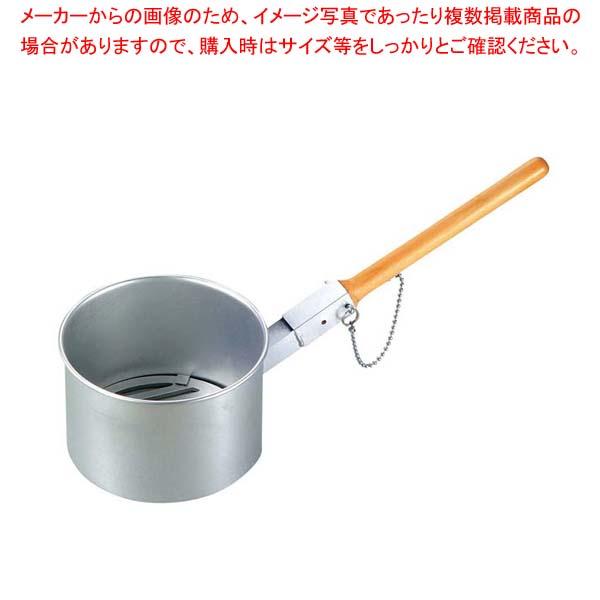 【まとめ買い10個セット品】 鉄鋳物目皿付 ジャンボ火起し(木柄差込式)小(φ155)【 焼アミ 】