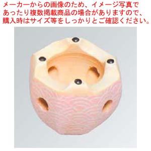 【まとめ買い10個セット品】 八角コンロ 6号 青海波【 卓上鍋・焼物用品 】