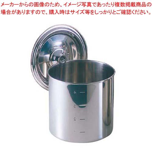 【まとめ買い10個セット品】 EBM モリブデン キッチンポット/寸胴鍋(目盛付)18cm 手無【 ガス専用鍋 】
