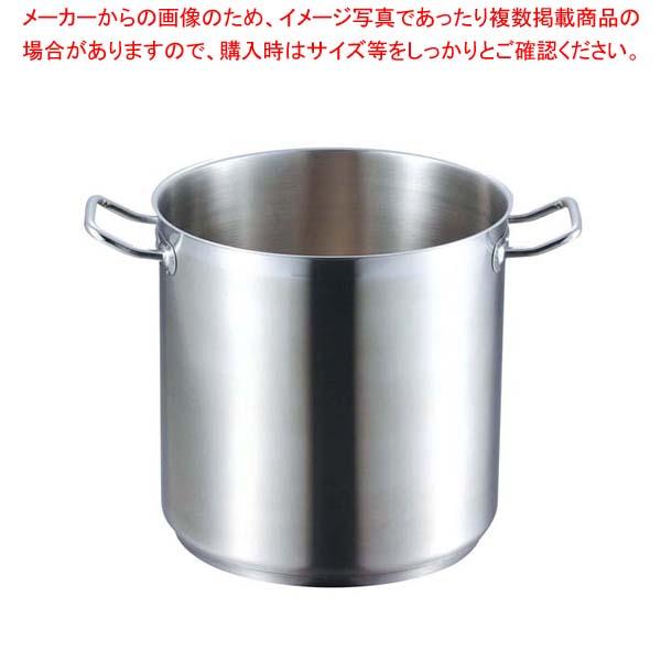【まとめ買い10個セット品】 EBM 18-8 プロシェフ IH 寸胴鍋 40cm 蓋無【 IH・ガス兼用鍋 】