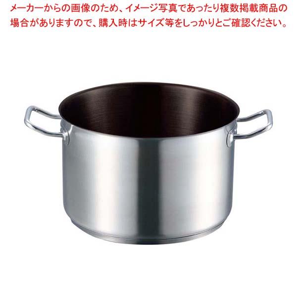 【まとめ買い10個セット品】 EBM 18-8 プロシェフIH 半寸胴鍋 22cm 蓋無ノンスティック【 IH・ガス兼用鍋 】